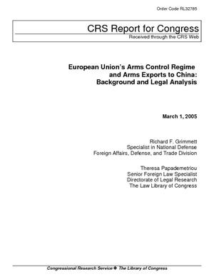European Union's Arms Control Regime and Arms Exports to China: Background and Legal Analysis