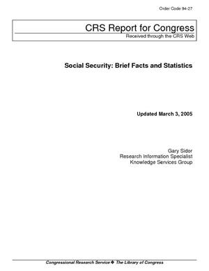 Social Security: Brief Facts and Statistics