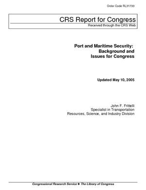 Port and Maritime Security: Background and Issues for Congress