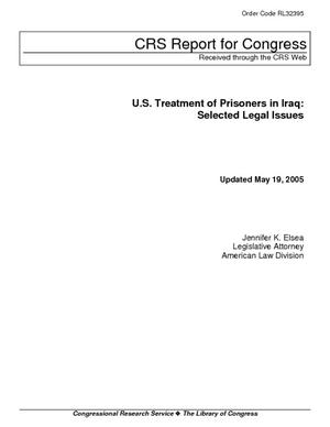 U.S. Treatment of Prisoners in Iraq: Selected Legal Issues