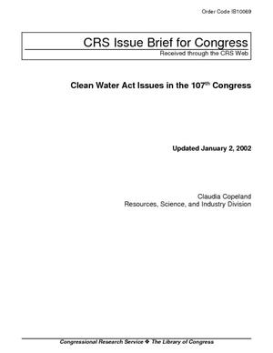 Clean Water Act Issues in the 107th Congress