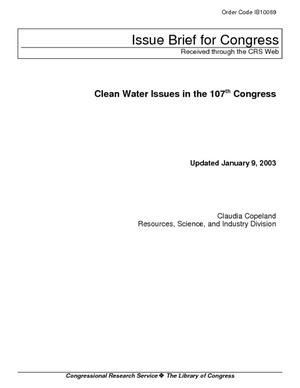 Clean Water Issues in the 107th Congress