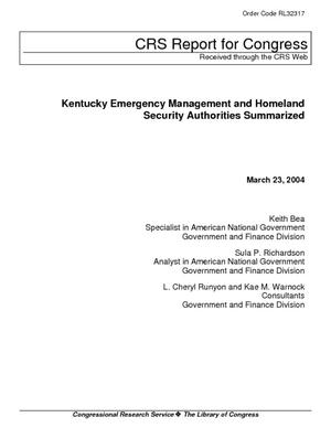 Kentucky Emergency Management and Homeland Security Authorities Summarized