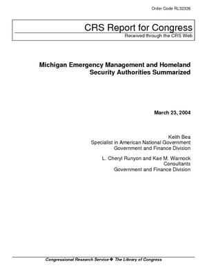 Michigan Emergency Management and Homeland Security Authorities Summarized
