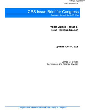 Value-Added Tax as a New Revenue Source