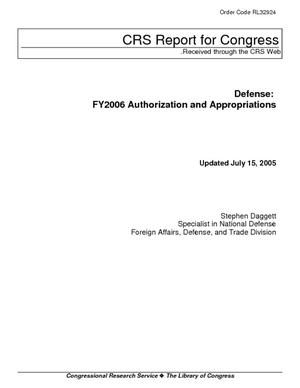 Defense: FY2006 Authorization and Appropriations