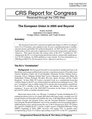 The European Union in 2005 and Beyond