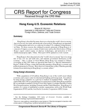 Hong Kong - U.S. Economic Relations