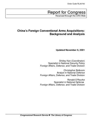China's Foreign Conventional Arms Acquisitions: Background and Analysis