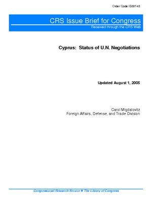Cyprus: Status of U.N. Negotiations