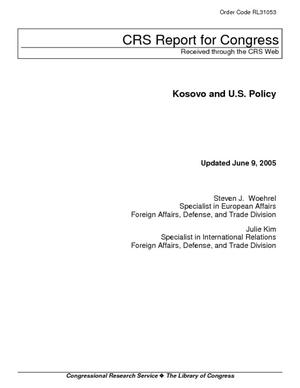 Kosovo and U.S. Policy