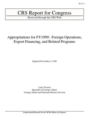 Appropriations for FY1999: Foreign Operations, Export Financing, and Related Programs