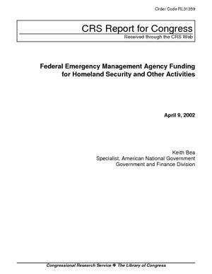 Federal Emergency Management Agency Funding for Homeland Security and Other Activities