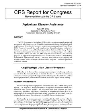 Agricultural Disaster Assistance