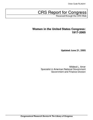 Women in the United States Congress: 1917-2005