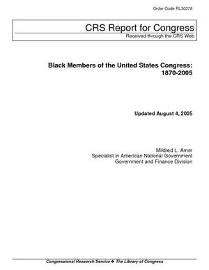 Black Members of the United States Congress: 1870-2005