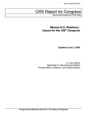 Mexico-U.S. Relations: Issues for the 109th Congress