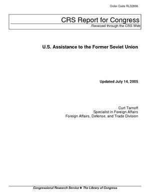 U.S. Assistance to the Former Soviet Union