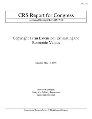 Copyright Term Extension: Estimating the Economic Values
