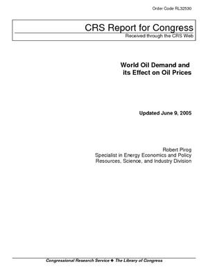 World Oil Demand and its Effect on Oil Prices