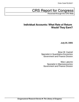 Individual Accounts: What Rate of Return Would They Earn?