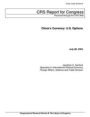 China's Currency: U.S. Options