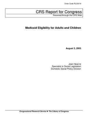 Medicaid Eligibility for Adults and Children