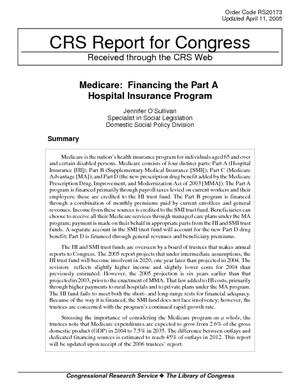 Medicare: Financing the Part A Hospital Insurance Program