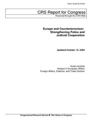 Europe and Counterterrorism: Strengthening Police and Judicial Cooperation