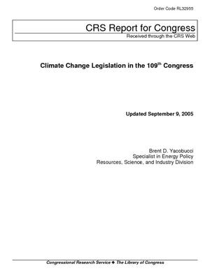 Climate Change Legislation in the 109th Congress