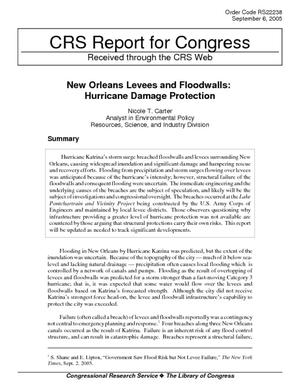 New Orleans Levees and Floodwalls: Hurricane Damage Protection