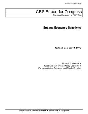 Sudan: Economic Sanctions