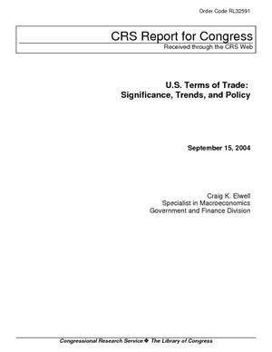 U.S. Terms of Trade: Significance, Trends, and Policy