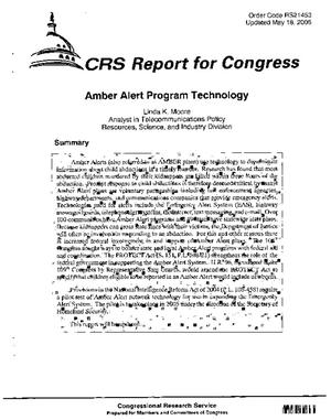Amber Alert Program Technology