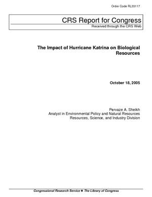 The Impact of Hurricane Katrina on Biological Resources