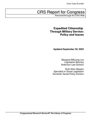 Expedited Citizenship Through Military Service: Policy and Issues