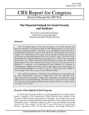 The Financial Outlook for Social Security and Medicare