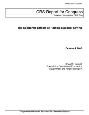 The Economic Effects of Raising National Saving