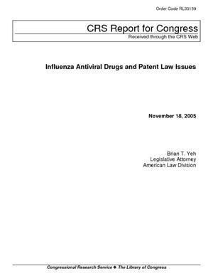 Influenza Antiviral Drugs and Patent Law Issues