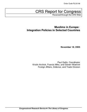 Muslims in Europe: Integration Policies in Selected Countries