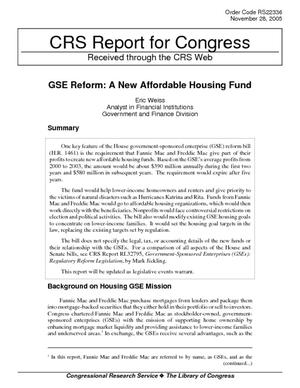 GSE Reform: A New Affordable Housing Fund