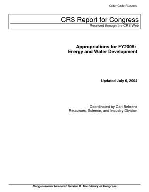 Appropriations for FY2005: Energy and Water Development