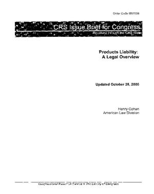 Products Liability: A Legal Overview