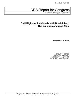 Civil Rights of Individuals with Disabilities: The Opinions of Judge Alito