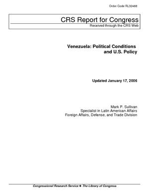 Venezuela: Political Conditions and U.S. Policy