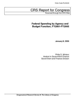 Federal Spending by Agency and Budget Function, FY2001-FY2005