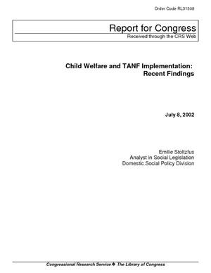 Child Welfare and TANF Implementation: Recent Findings