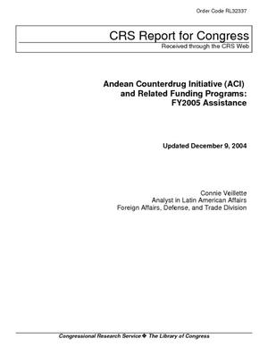 Andean Counterdrug Initiative (ACI) and Related Funding Programs: FY2005 Assistance
