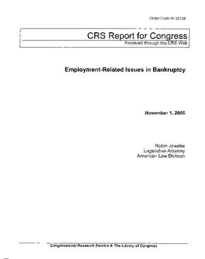 Employment-Related Issues in Bankruptcy