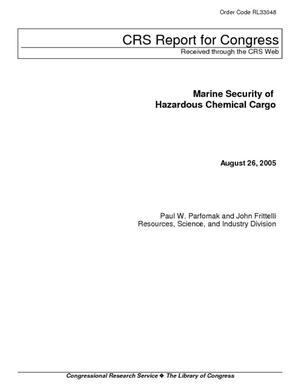 Marine Security of Hazardouse Chemical Cargo
